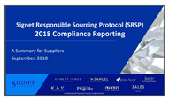 Signet Responsible Sourcing Protocol (SRSP) Compliance Reporting webinar